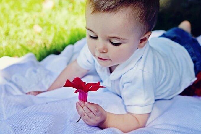 花と赤ちゃん