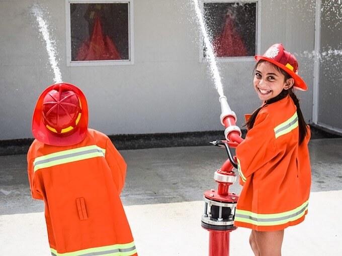消防士の子供