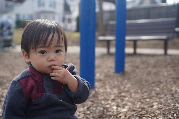 公園と男の子
