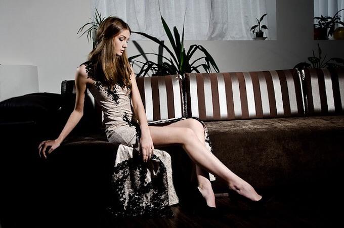 脚の綺麗な女性