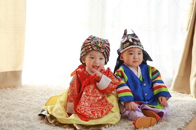 韓国の赤ちゃん